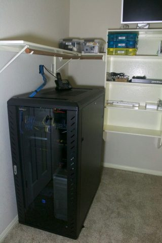 The finished server room.